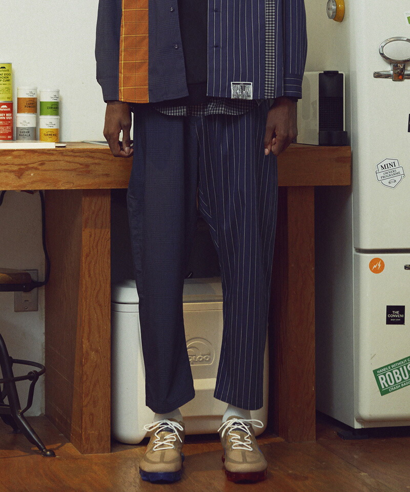 【VOY】Layered check wide pants パンツ(VOY20-04)