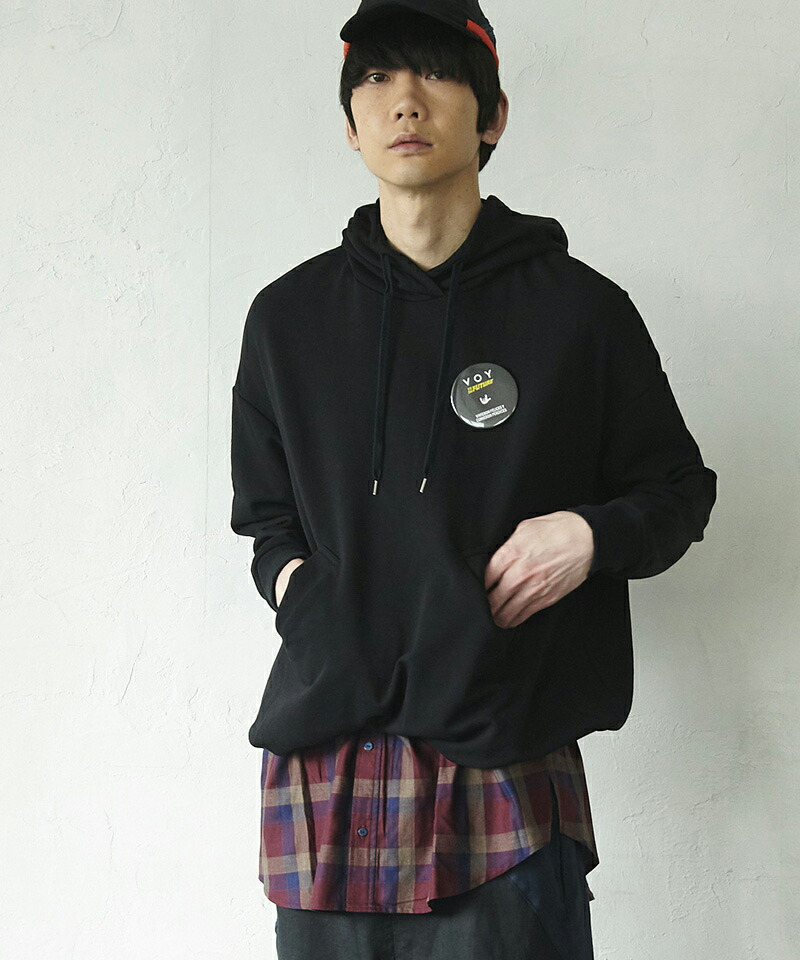 【VOY】Layered hoodie パーカーワンピース(VOY20-14)