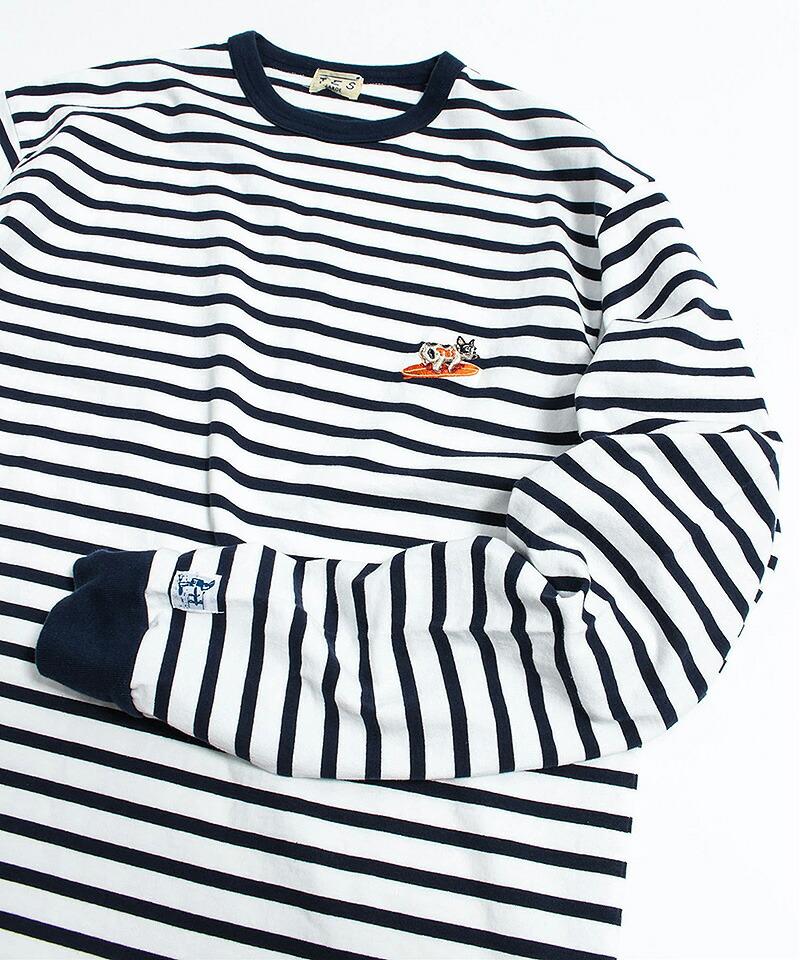 【The Endless Summer(ザエンドレスサマー)】TURN BUHI EMB BORDER L-S-T-SHIRT Tシャツ(0774300)