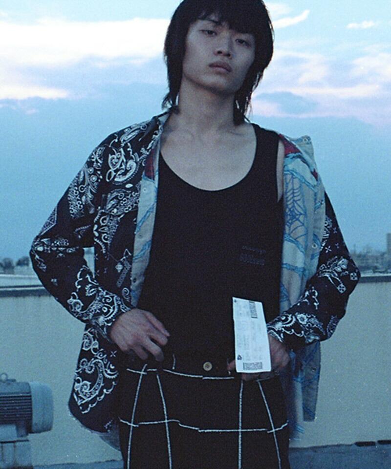 【SEVESKIG(セヴシグ)】BAN-DANA P.W SHIRT シャツ(SH-SV-NIS-1001)