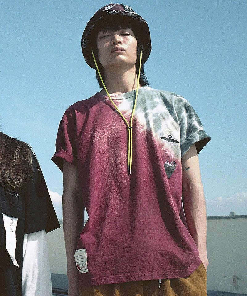 【SEVESKIG(セヴシグ)】YUKIDYE×SEVESKIG×TEXTA8000 IAMWHOIAM Tシャツ(CT-SV-NIS-1005)