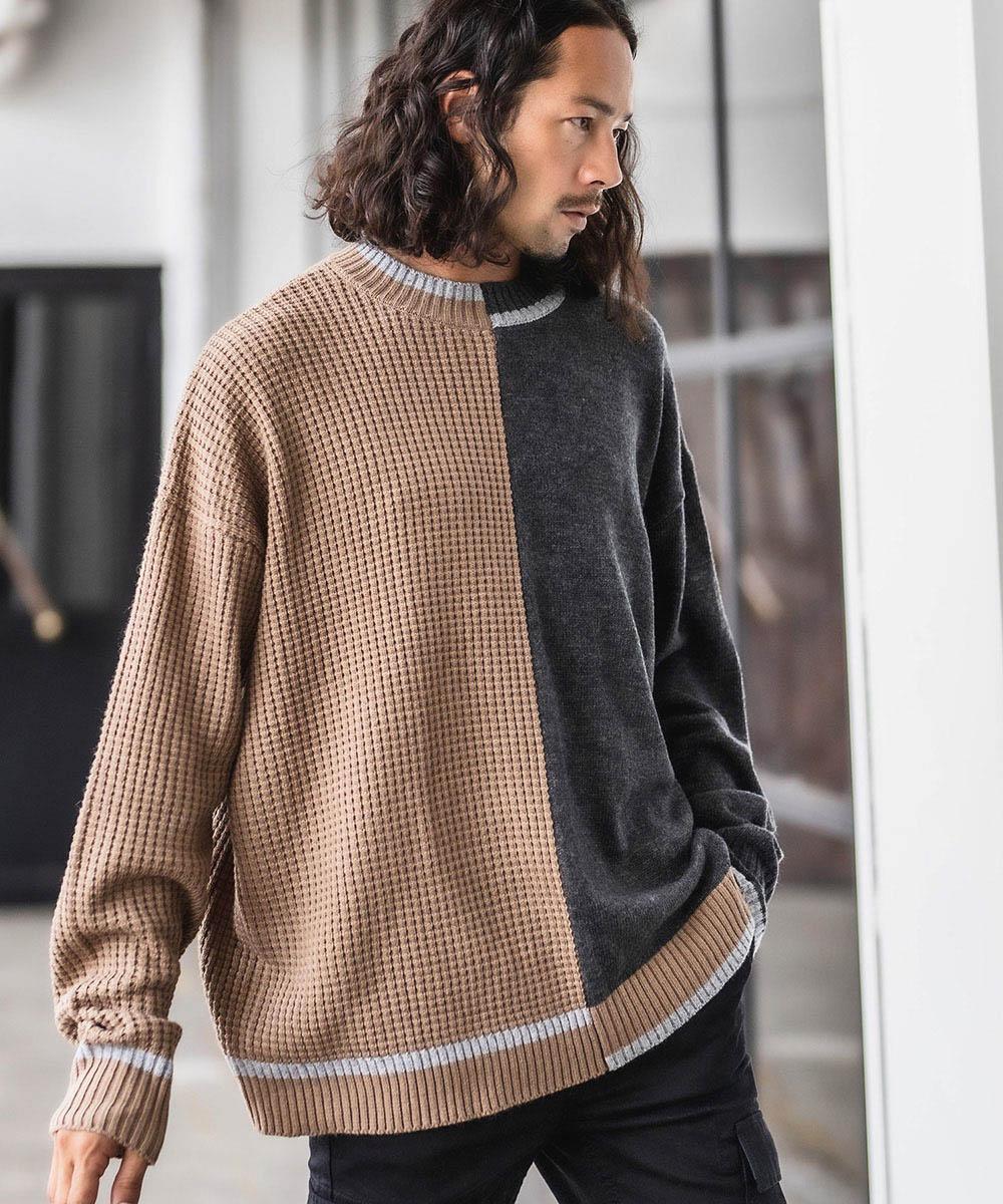 【CAMBIO(カンビオ)】Asymmetry Design Knit Pullover プルオーバー