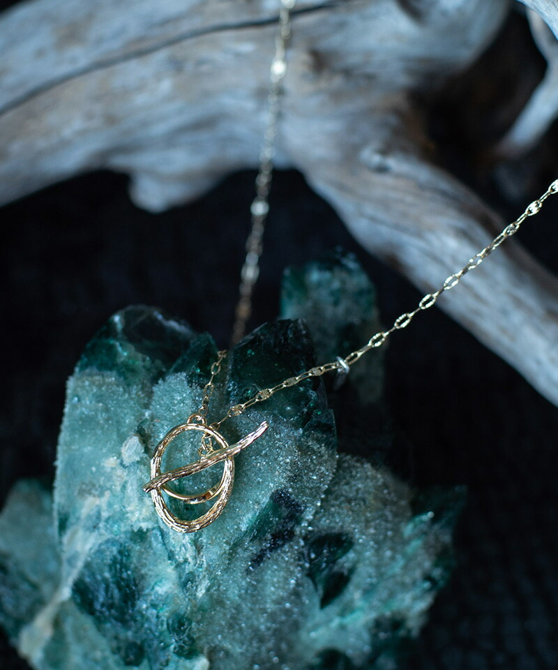 【glamb(グラム)】Double rings necklace ダブルリングネックレス(GB0420-AC10)