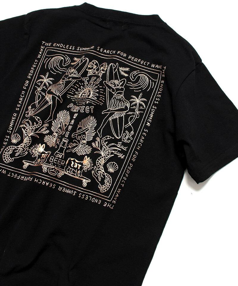 【The Endless Summer(ザエンドレスサマー)】CALM BANDANA EMB SST Tシャツ(1574300)