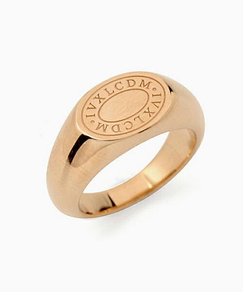 【IVXLCDM(アイブイエックスエルシーディーエム)】OVAL LOGO PINKY RING 指輪(IVX-R832)