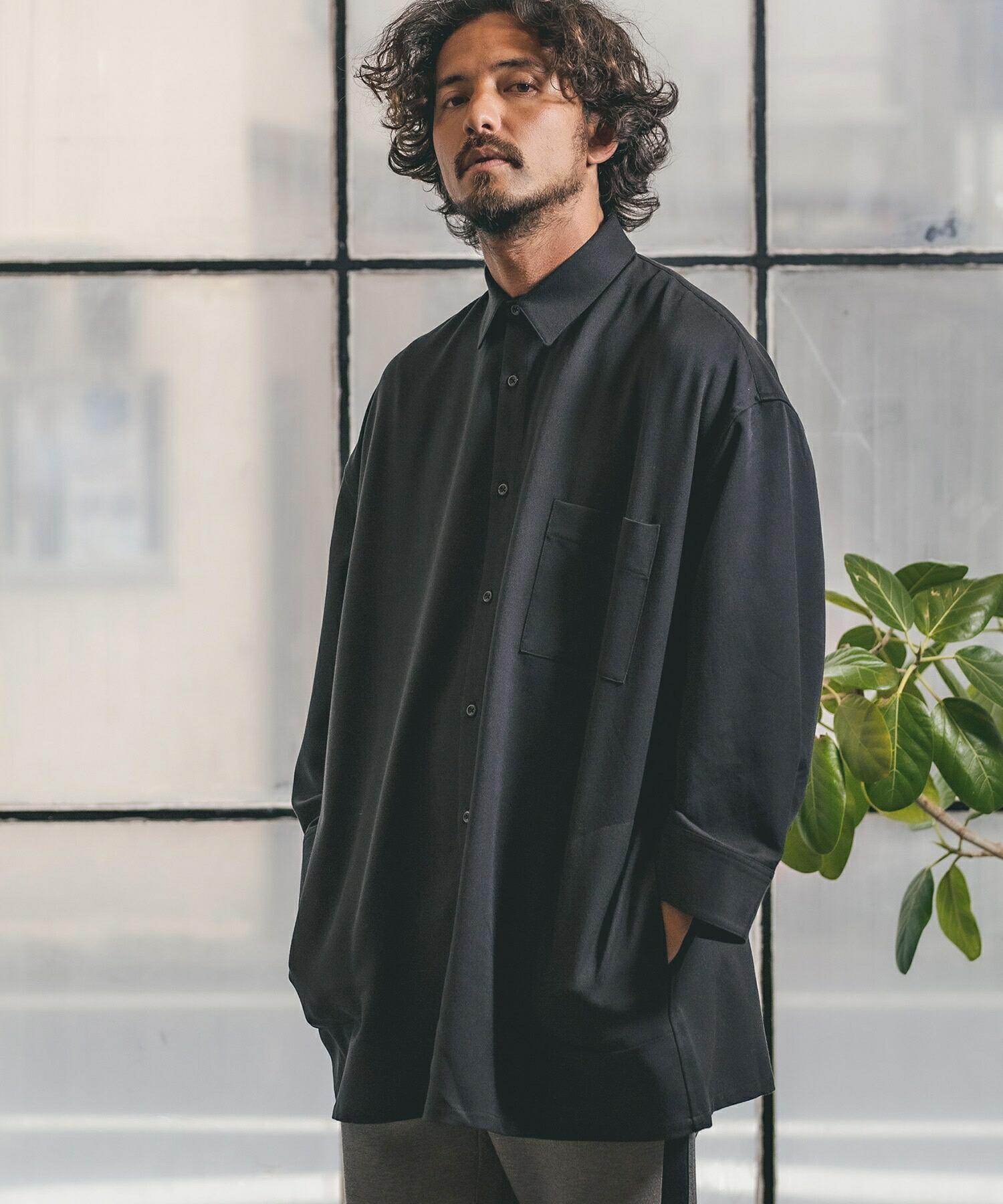 【CAMBIO(カンビオ)】TR Super Big Silhoutte Long Sleeve Shirts シャツ