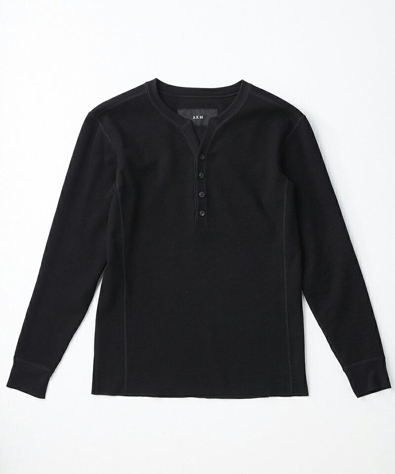 【AKM】FINE COTTON THERMAL L-S HENRY Tee Tシャツ(T197-CTN230)