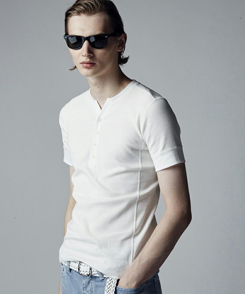 【AKM】FINE COTTON THERMAL S-S HENRY TEE Tシャツ(T202-CTN230)