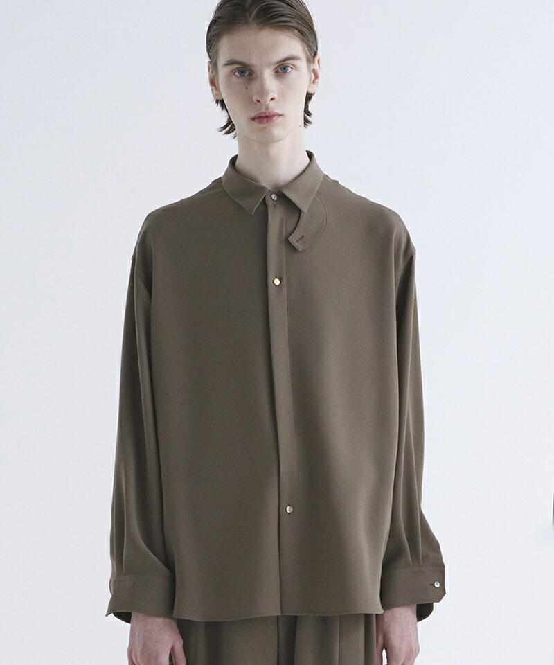 【CULLNI(クルニ)】チンストラップストレッチシャツ(21-SS-012)