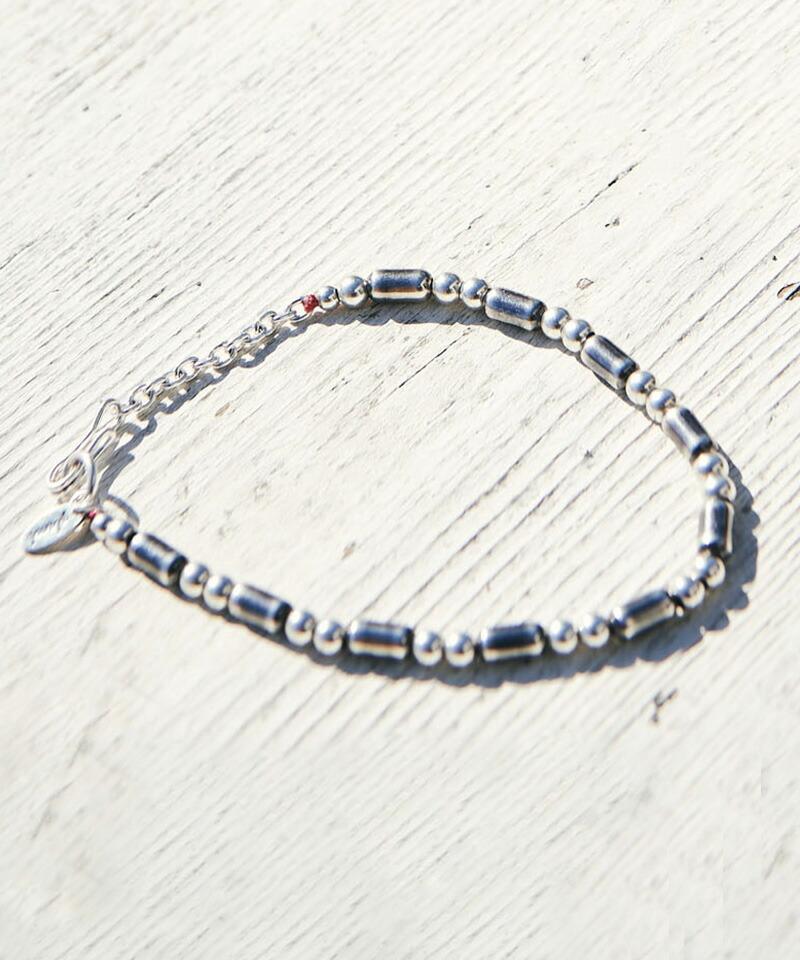 【glamb(グラム)】Silver pipe beads bracelet シルバーパイプビーズブレスレット(GB0221-AC12)