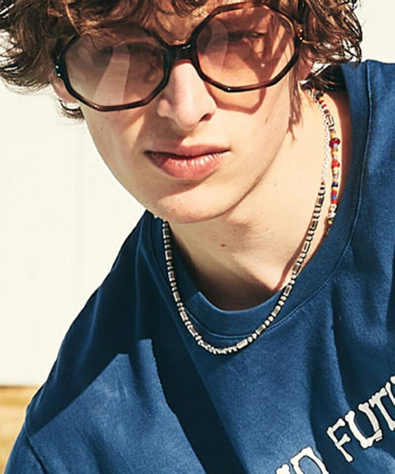 【glamb(グラム)】Silver pipe beads necklace シルバーパイプビーズネックレス(GB0221-AC09)