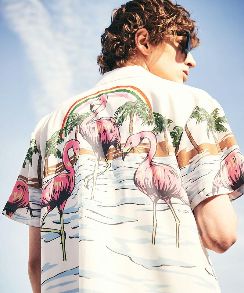 【glamb(グラム)】Paradise island SH パラダイスアイランドシャツ(GB0221-SH03)