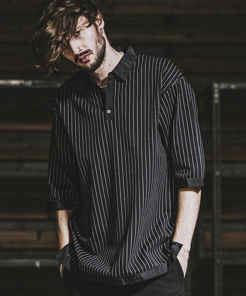 【NO ID.(ノーアイディー)】 クレリックBIGポロSH ポロシャツ(848006-634S)