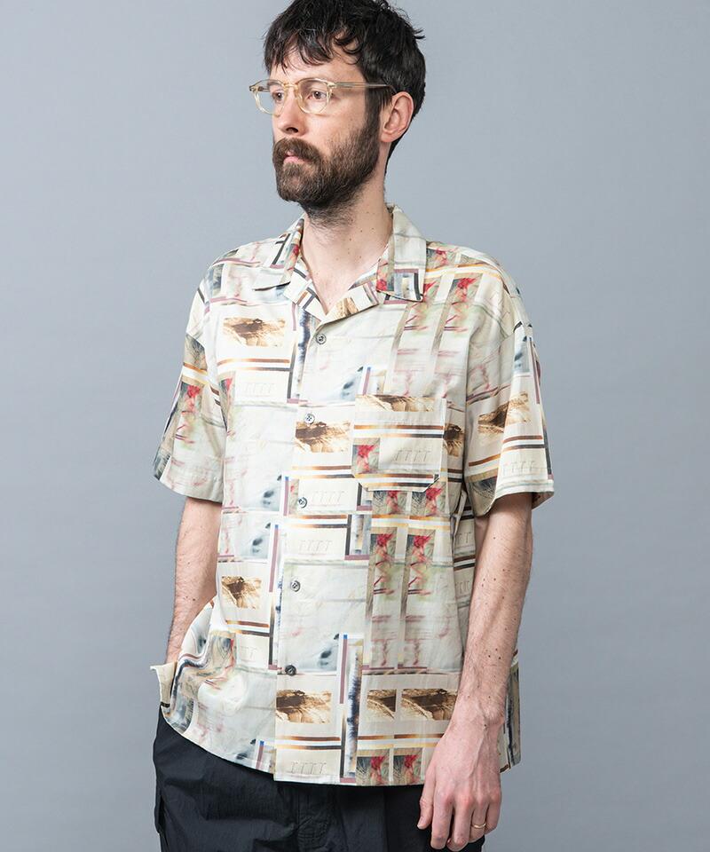 【MROLIVE(ミスターオリーブ)】xARIKA -COLLAGE ART SHIRT シャツ(M-022117)