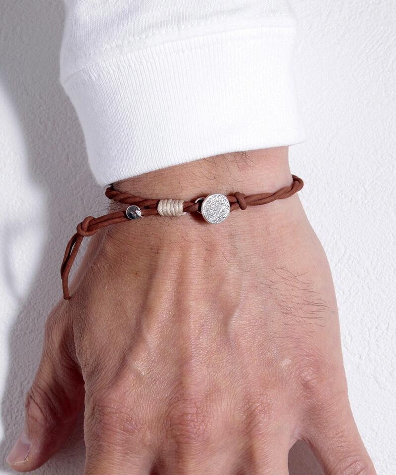 【VIVIFY(ビビファイ)】 Melted Texture Button Nubuck Cord Bracelet  ブレスレット(VFB-174)