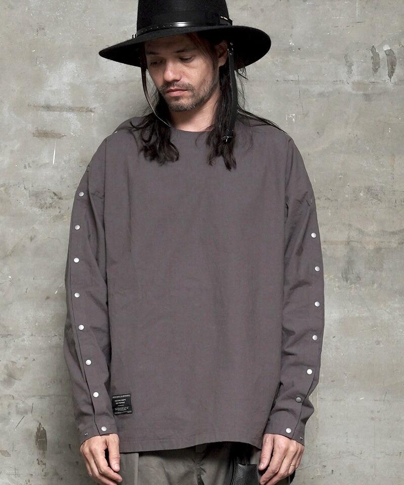 【EGO TRIPPING(エゴトリッピング)】DISMANTLE CREWNECK SHIRTS シャツ(663900)