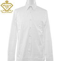 ラウンドカラー メンズ 長袖シャツ