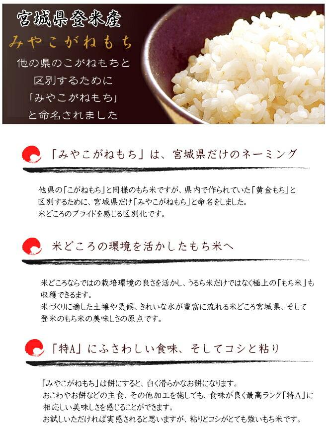 平成28年度宮城県登米産みやこがねもち みやこがねもちの特ちょう