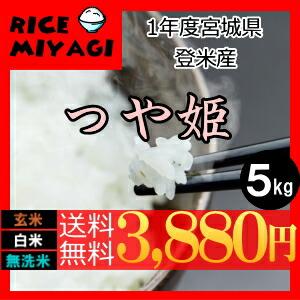30年度産 新米 宮城県登米産 特別栽培米つや姫5kg 玄米/白米/無洗米