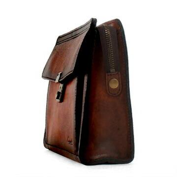 Lugard G3 カバン セカンドバッグ レザー アオキ ブラウン [bef] [PO10] メンズ ラガード 青木鞄 5216 50 バッグ ジースリー 革 紳士 ビジネスバッグ