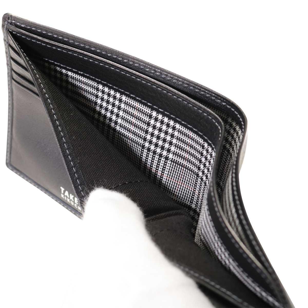 763dc2d13cb7e8 タケオキクチ 二つ折り財布 メンズ 日本製 オイルヌメ 6150118 TAKEO ...