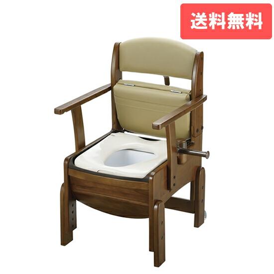 木製トイレ きらく コンパクト 普通便座