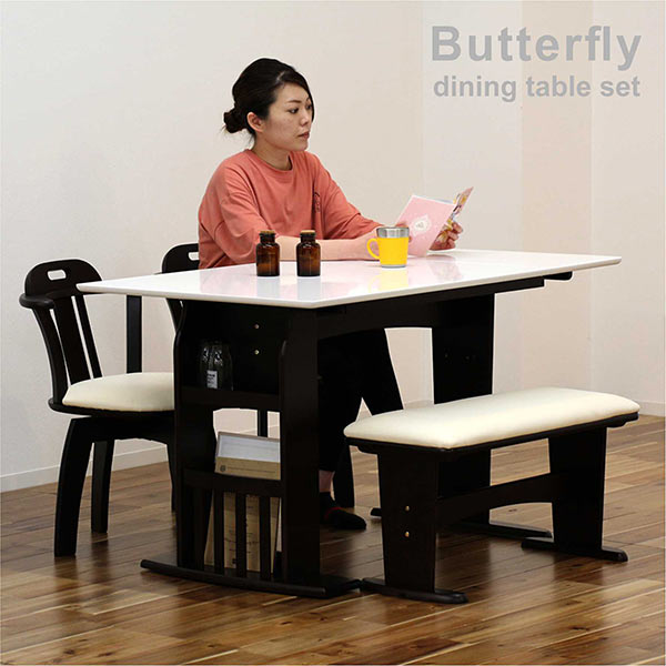 ダイニングテーブル 伸縮 セット 白 伸長式ダイニングテーブルセット 4人掛け 伸縮テーブル 幅90cm 幅120cm
