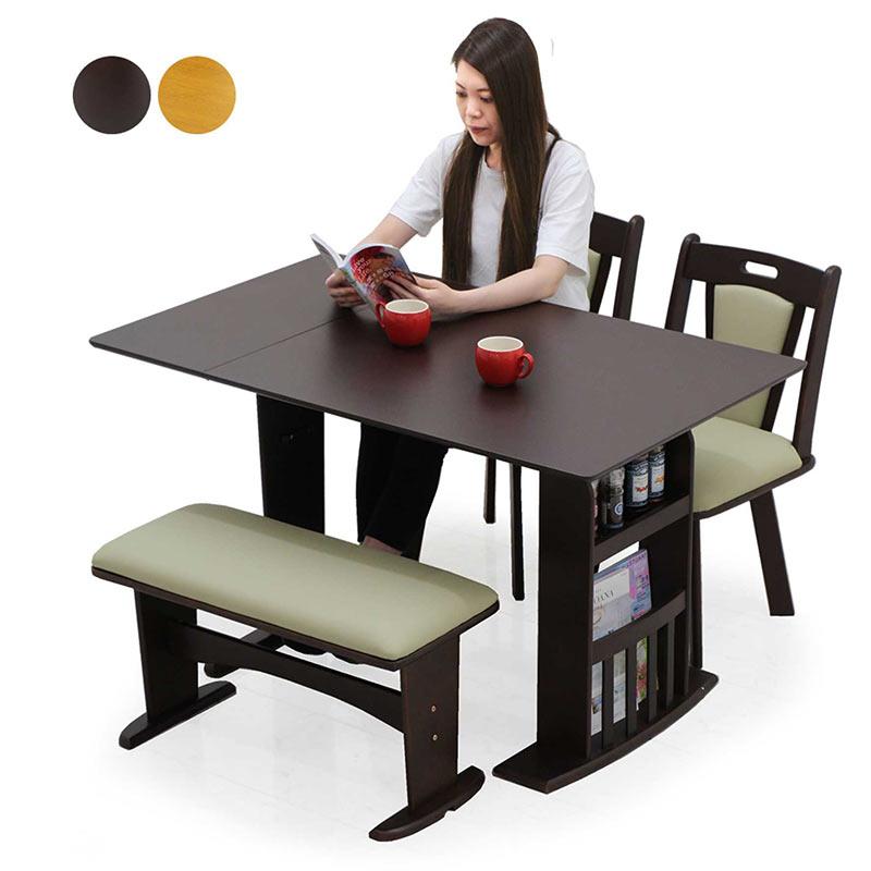 ダイニングテーブル 伸縮 セット ベンチ 北欧 伸長式ダイニングテーブルセット 2人掛け 4人掛け 伸縮テーブル