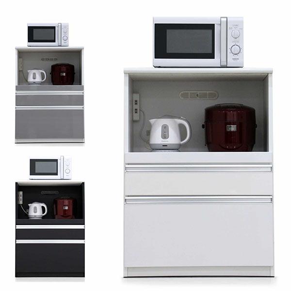 レンジ台 大型レンジ対応 幅70cm レンジボード 大型レンジ 食器棚 完成品 コンパクト キッチン 収納 引き出し収納