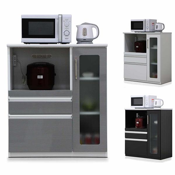 キッチンカウンター 幅85cm 85cm 奥行48cm 高さ97cm 腰高カウンター キッチン収納 モイス付き MOISS シンプル 北欧 モダン 木製 日本製 完成品 送料無料