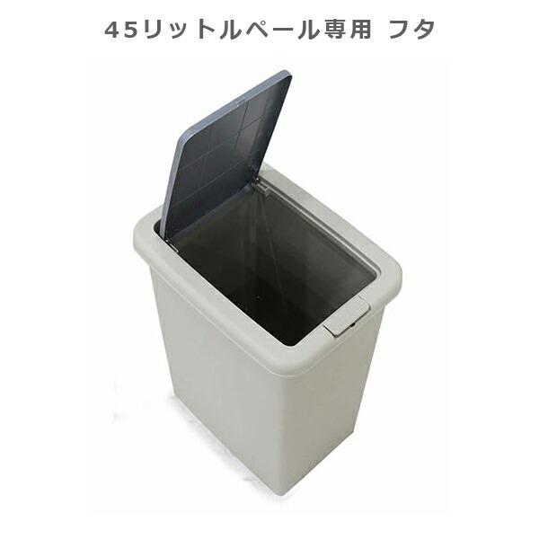 ゴミ箱 45リットル ブッシュ式 蓋のみ シンプル 分別 便利 ペール ゴミ箱のみ販売 選べる2タイプ 2分別 3分別 おしゃれ 容量45リットル キッチン収納 ダストボックス 完成品 大川家具 楽天 送料無料