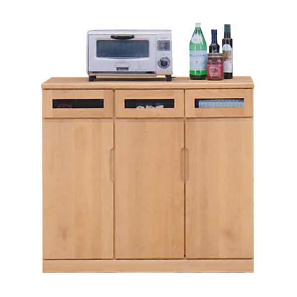 キッチンカウンター 幅90cm 90cm キッチン収納 開き戸 シンプル モダン 北欧 木製 完成品 日本製 送料無料