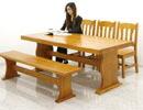 パイン無垢材 ダイニングテーブルセット ダイニングセット 5点セット 6人掛け 180x90