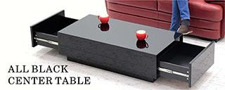 リビングテーブル 引き出し ガラス ブラック ローテーブル センターテーブル 幅110cm 引出付リビングテーブル