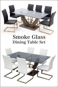 ガラステーブル ダイニングテーブルセット ダイニングセット 7点 6人掛け 高さ72cm 170×100 大判 長方形 ハイバックチェア カンティレバーチェア