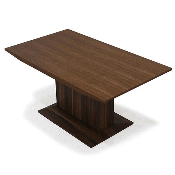 ダイニングテーブル 高級感 木製 幅160 ブラウン色 モダンテイスト 食卓テーブル ウォールナット突板 おしゃれ ウッド リビング家具 ダイニング リビング家具 木目調 モダンテイスト  送料無料