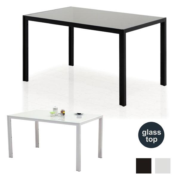 ダイニングテーブル ガラステーブル 13580 長方形 強化ガラス