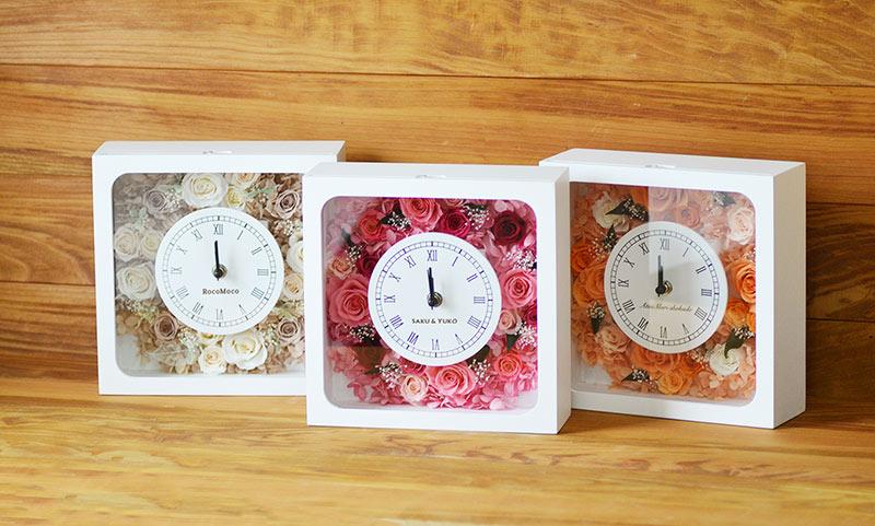 日常的に使える花ギフトを贈りたいときにおすすめの名入れ花時計