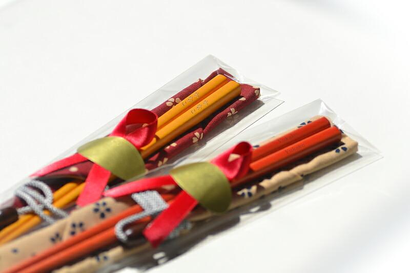 若草箸のセットのラッピング