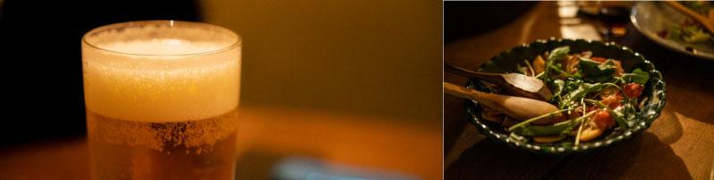 名入れビアグラス食事のイメージ画像
