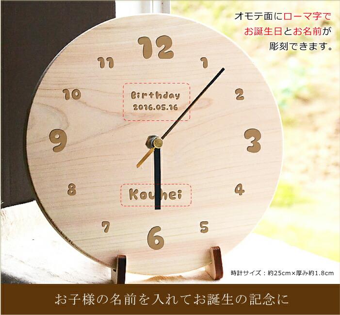 なごみ名入れ時計にどのようにして文字を入れられるかの説明画像
