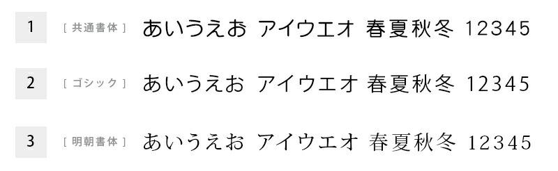 書体見本:日本語