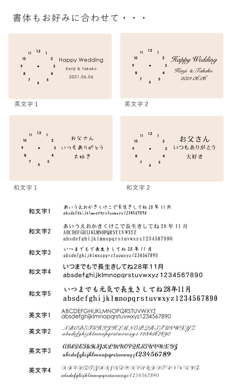 時計の文字入れについての説明