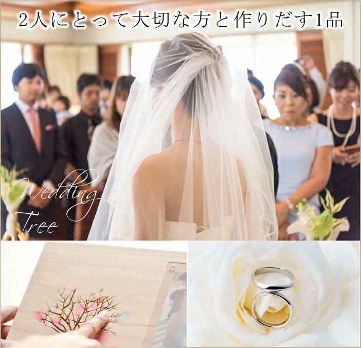 結婚式は人生の大事な日で参列者の方にも参加してもらうイベントウェディングツリーの画像