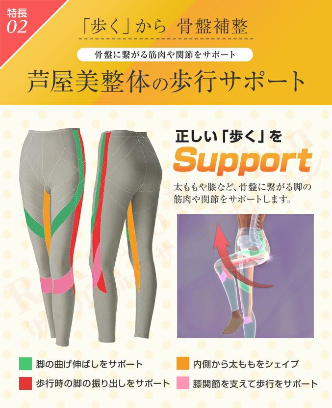 特長02、「歩く」から骨盤補整、骨盤に繋がる筋肉や関節をサポート、芦屋美整体の歩行サポート