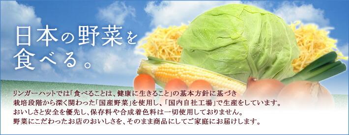 日本の野菜を食べる