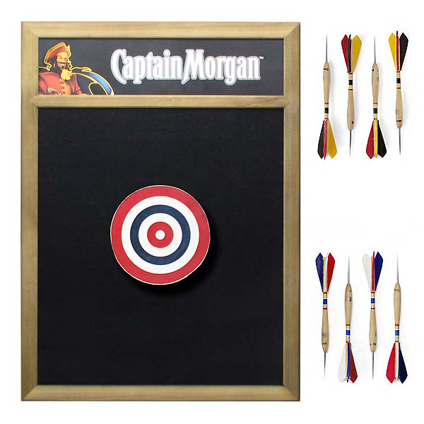 Belgian Darts Board & Captain Morgan Back Board