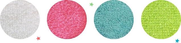 ホワイト、ピンク、ブルー、グリーン