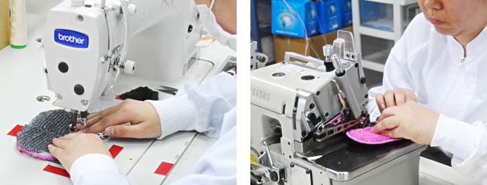 生地づくりから縫製まで安心の日本製