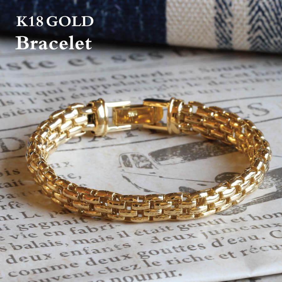 K18 ブレスレット ゴールド チェーンブレス